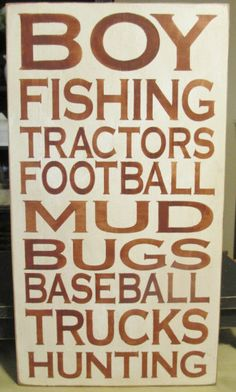 Boys Primitive Wood Subway Sign