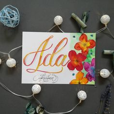 Perfectly unique gift #giftideas #uniquegifts #giftinsporation #uniquegift #oneofakind #lettering #ecoline Calligraphy Cards, Name Cards, Unique Gifts, Lettering, Artist, How To Make, Calligraphy, Business Cards, Letters