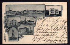 86024 AK Falkenburg i. Pommern Zlocieniec 1899 Webschule Amtsgericht Rathaus ...