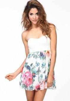 Strapless Garden Dress
