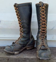 1950s WESCO Whites Highliner Lineman Smokejumper Biker Boots 7.5. $450.00, via Etsy.