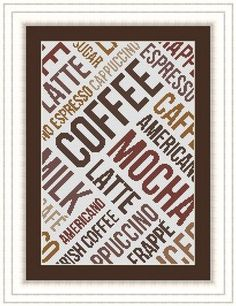 COFFEE/ cafe Counted cross stitch pattern by LudivinePointDeCroix