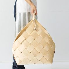 wooden basket XL