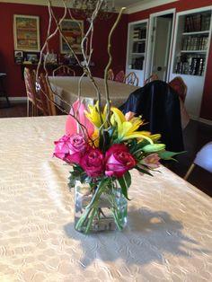 Protea, astromaria, rose, little lily