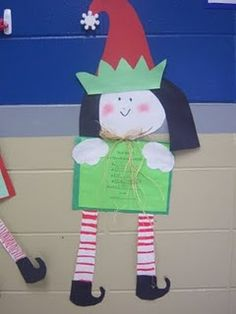 My students made these elves along with their letter to Santa...adorable!