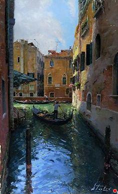 Venice by Kyle Stuckey Oil ~ 26 x 16