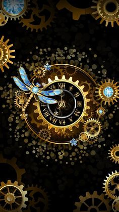 Steampunk, Erasable (Vinyl) Wallpapers: It can be the most used wall picture Clock Wallpaper, Galaxy Wallpaper, Disney Wallpaper, Wallpaper Backgrounds, Iphone Wallpaper, Steampunk Wallpaper, Gothic Wallpaper, Steampunk Kunst, Steampunk Hat