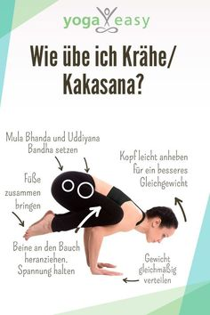 Asana des Monats: Kakasana – die Krähe So the asana goes the crow / kakasana. Tips, effects and instructions for the yoga exercise. Related posts:Everything about the sun salutation - with instructions and videosLearn. Yoga For Beginners Flexibility, Beginner Yoga, Yoga Poses For Beginners, Advanced Yoga, Videos Yoga, Yoga Video, Asana, Fast Weight Loss Tips, Weight Loss Program