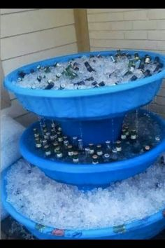 Pool beer fountain.