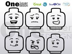 LEGO inspiré visages fichiers SVG T-Shirt SVG svg  Vector Lego Bulletin Board, 3d Pen Stencils, Lego Faces, Lego Shirts, Lego Head, Lego Wall, Lego Craft, Lego Room, Lego Birthday Party