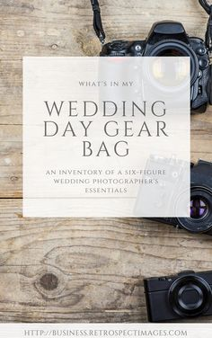 what camera gear to use to shoot a wedding day Wedding Gear PDF