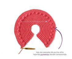 Chaqueta de Crochet Burbujitas para niña [ Tutorial y Patrón GRATIS ] Baby Cardigan Knitting Pattern, Baby Knitting, Knitting Patterns, Crochet Patterns, Crochet Girls, Crochet Woman, Gilet Crochet, Crochet Hats, Patron Crochet