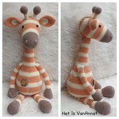 Diy Crochet Toys, Crochet For Kids, Crochet Crafts, Crochet Dolls, Crochet Doll Pattern, Crochet Patterns Amigurumi, Crochet Blanket Patterns, Amigurumi Doll, Giraffe Crochet