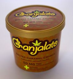 Salted Caramel Crunch Marijuana Infused Gelato                 50 mg THC (Activated CO2 Extracts)