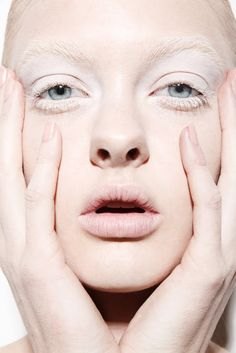 There something interesting that happens when you 'bleach out' the brows.  Jamie Nelson: bleached brows