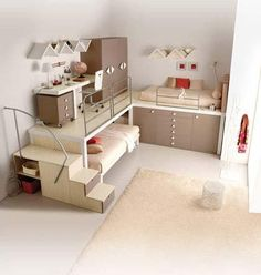 For small bedrooms with more than one kid..  Very creative!