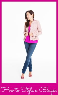 how to style a #blazer. Spring Fashion tips