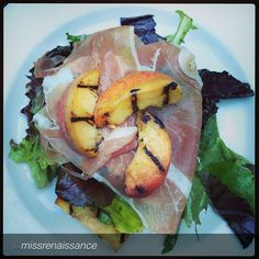 Grilled peaches and prosciutto at Mia Francesca in Chicago - by @Nikkia Dugas #foodmafiagodfather #beautiful #love #chicago