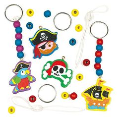 Sets met sleutelhangers en tashangers met piraat
