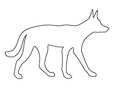 Use the printable outline for crafts, creating stencils… Painting Templates, Art Template, Printable Templates, Dingo Dog, Zentangle, Animal Outline, Animal Templates, Felt Pictures, Animal Silhouette