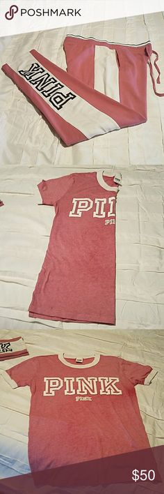 PINK VICTORIA'S SECRET sweat pants and top Gently worn VICTORIA'S SECRET PINK outfit PINK Pants Track Pants & Joggers