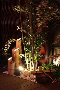 竹取物語を思わせる演出 ㈱ひまわりライフ® 大阪府Ⅰ様邸 Spectacular garden lighting by lighting professionals