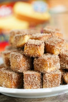 Apple spice cinnamon sugar pound cake bites are the ultimate treat to serve your…