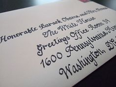 If you send a wedding invitation to the white house, you will get a congratulatory letter!! Such a cool keepsake!