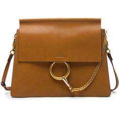 Chloe Medium Goatskin Faye Shoulder Bag ($2,030) ❤ liked on Polyvore featuring bags, handbags, shoulder bags, hand bags, shoulder bag handbag, man bag, shoulder hand bags and shoulder bag purse