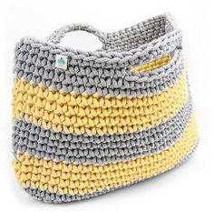 Sundy Mandy Basket Shopping basket crochet basket by PaniBabeczka