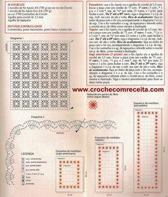 Tapetes em Crochê   bordado em croche     Bem versatil esse modelo que de tapetes vira passadeiras e americanos   para enriquecer  a mesa...