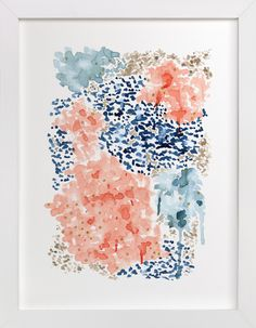 """Flutter Watercolor"" - Art Print by Andi Pahl in beautiful frame options and a variety of sizes."