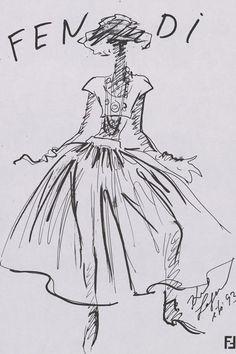 Fendi 1993 Karl Lagerfeld