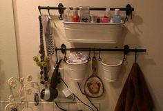 Master bath organization from IKEA