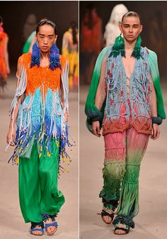 interesting use of macramé in these garments by Yingzhi Luo