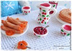 Миниатюра `Масленица` (2). Кулинарная миниатюра для кукольных домиков.