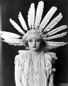 Tallulah Bankhead 1923, looking doleful (as well she might in this get-up) friend of Zelda Fitzgerald...