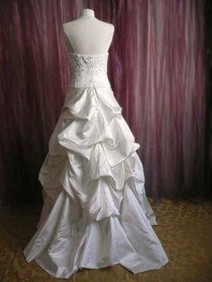 Robe mariage ivoire drapée