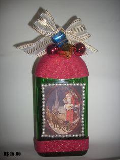 garrafa tema de natal