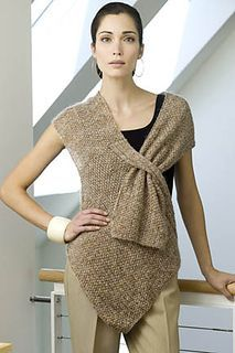 asymetrical poncho style top - looks good and the pattern is free on Ravelry - US pattern