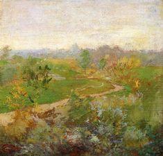 John Henry Twachtman: Road over the Hill, 50x48 cm, 1899