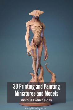 How do you paint a resin 3D printed miniature or model? If you were looking to 3D print D 3d Printing Companies, Miniature Figurines, Fantasy Miniatures, Painting Tips, Warhammer 40k, Printers, Dungeons And Dragons, 3d Printer, Tabletop