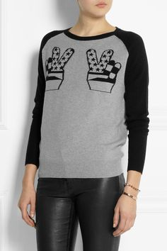 Peace Hands cashmere sweater