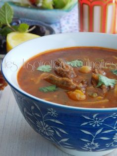 chorba vermicelle Algerian Recipes, Algerian Food, My Best Recipe, Goulash, Couscous, Thai Red Curry, Stew, Meal Prep, Spicy