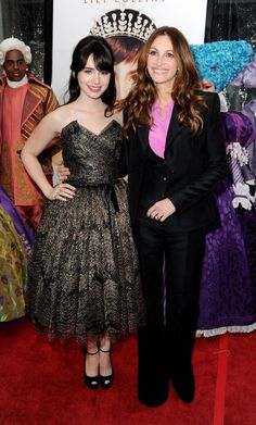 Lily Collins and Julia Roberts