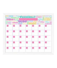 Another great find on #zulily! Bright Week Days Monthly Memo Board #zulilyfinds