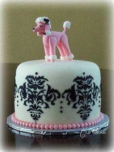 Pink Poodle Damask
