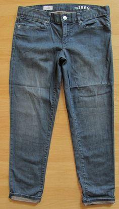 """GAP 1969 Cropped Always Skinny Jeans 30 10 Denim Skimmer Medium Stretch Slim 27"""" #GAP #SlimSkinny"""