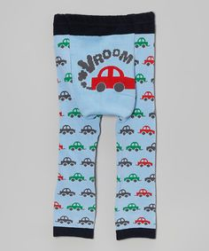 This Blue 'Vroom' Car Leggings - Infant by Doodle Pants is perfect! #zulilyfinds