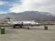 Lockheed F-104G Starfighter on display at the Palm Springs Air Museum.